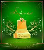 Christmas sale golden tags — Stock Vector