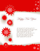 Christmas background Ripped paper effect — Stock vektor