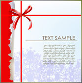 Christmas background Ripped paper effect — Vector de stock