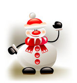 Christmas background with snowman — Stock Vector