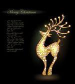Sparkling reindeer against dark background — Stockvector
