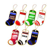 Christmas sock label set — Stockvector