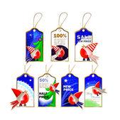 Set of christmas tags — Stock Vector