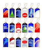 Ensemble d'étiquettes de noël — Vecteur