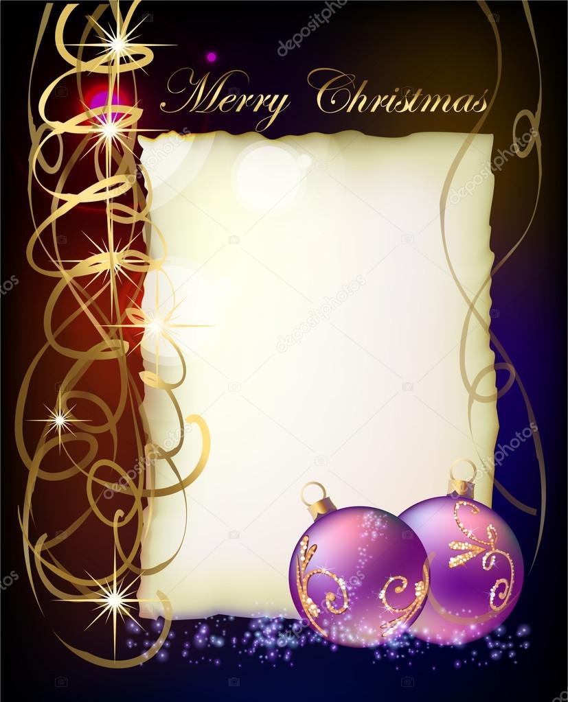 Christmas background with letter template for your text – Christmas Card Letter Templates