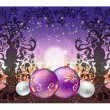 Stock Vector: Christmas background with fairy forest