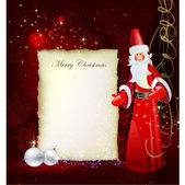 Christmas background with letter template — 图库矢量图片
