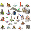 3D city icons set — Stock Vector #37143141