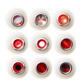 Parlak düğmeler — Stok Vektör