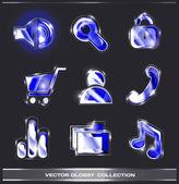 Website buttons icons collection — Vecteur