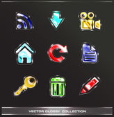 Website buttons icons collection — Stock Vector