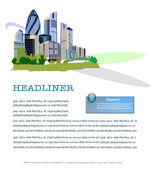 City web page template — Stock Vector