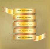 Golden ribbon — Stock Vector