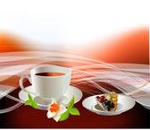 Ovoce, čaj — Stock vektor