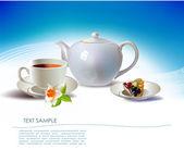 Fruits tea — Stock Vector
