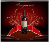 Botella de vino ilustración — Vector de stock