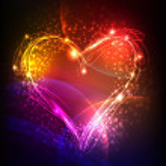 Neon valentine's background — Stock Vector