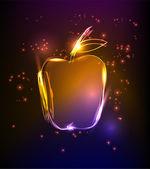 Neon apple — Stock Vector