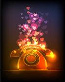 Neon valentine's background — Vetorial Stock