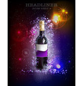 Bottle of wine background — Stock Vector