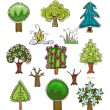"""Tree set 2 """"Happy world"""" collection — Stock Vector #37908557"""
