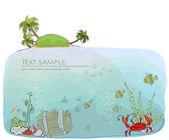 Happy world collection, Paradise beach illustration — Stock Vector