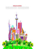 City collection — Stock Vector