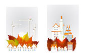 City collection Autumn in the city illustration — Stock Vector