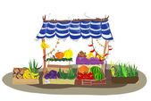 Fruit and Veg shop on the city street — Stock Vector