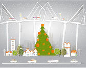 Christmas in the city — Stock Vector