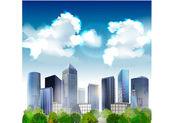 Realistické vektorově a moderní město — Stock vektor