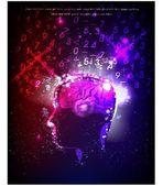 人的头,思索着概念霓虹灯集合图 — 图库矢量图片
