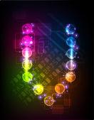 Neon collection Alphabet — Stock Vector