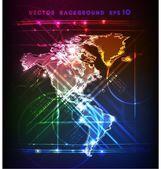 Mapa (neon kolekce) — Stock vektor