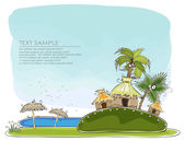 """Paradise island Travel background """"Happy world"""" collection — Stock Vector"""
