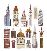"""Stadens hus, byggnader som """"staden collection"""" — Stockvektor"""
