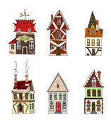 "City's houses, buildings set ""City collection"" — Stock Vector"