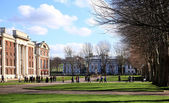 Greenwich park, Royal Navy college and Maritime museum — Stock Photo
