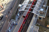 DLR station London, Docklands light railway — Stock Photo