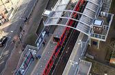 DLR station London, Docklands light railway — Stock Photo
