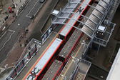 LONDON, UK - FED 2014: DLR station London, Docklands light railway — Stock Photo