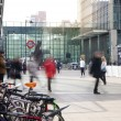 LONDON, UK - MARCH 10, 2014: Canary Wharf business aria with more than 100.000 working places. Tube entrance and early morning commuters — Stock Photo #42577051