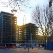 LONDON, UK - MARCH 10, 2014: building site, new development in business aria of Canary Wharf — Stock Photo #42578309