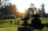 HEVER CASTLE AND GARDENS, KENT, UK - MARCH 10, 2014:  250 acre park. 13th century  Tudor manor — Stock Photo