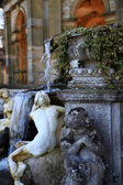HEVER CASTLE AND GARDENS, KENT,  UK - MARCH 10, 2014: Grot and waterfalls in park. 13th century castle with Tudor manor house and 250 acre of park. — Stock Photo