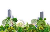 Modern city illustration, City collection — Stockvektor