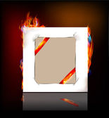 Paper background and flames — Stock Vector