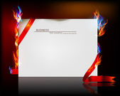 Paper background with flame — Stock Vector
