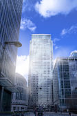 LONDON, UK - CANARY WHARF,  MARCH 22, 2014  Carbot square, biggest business district in London, View on Canada tower — Stock Photo