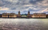 LONDON, UK - MARCH 29, 2014 Greenwich view and river Thames from dockland s side, HDR proceeding — Stock Photo